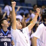 0-14 averted: AdU coach Kenneth Duremdes celebrates as the Falcons seal a win vs UP #UAAP77 https://t.co/YLNQGsWBO6 http://t.co/7HkMnXdKSO