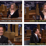 .@BarbraStreisand duets w/@jimmyfallon after 51-year absence from Tonight Show #FallonTonight http://t.co/U6mKDmEZH5