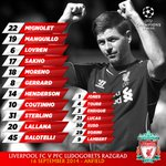 Photo: Confirmed #LFC v Ludogorets starting XI and subs match graphic http://t.co/CwsKKZ1FFp