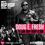 u know we gonna show love 2 @RealDougEFresh at the @hiphopawards !! im hostin the show, tune in OCT 14! #hiphop #icon