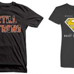 Check out these shirts! Purchase info here: http://t.co/6TUPMITkgh. Proceeds benefit cancer research. #StillStrong http://t.co/vkm9ZzezDI