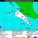 La TT #Polo estaría frente a las costas de #Colima entre la noche del miércoles y el jueves. Fuente: NHC http://t.co/0xwAazgyih