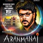 RT @ThenandalFilms: Tomorrow's #Aranmanai ad.. Book ur tickets! @iamsanthanam #SundarC @khushsundar @_RedGiantMovies @Udhaystalin http://t.…