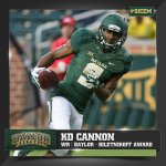 KD Cannon added to @biletnikoffawrd watch list, after leading FBS in receiving yards through 3 games. #WRU http://t.co/srzdMUKmqo