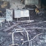 #BolesFire: charred student desks and chairs at Weed Elementary. @news10_ca http://t.co/lnCHMJShLI