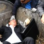 VIDEO: An angry crowd has thrown a Ukrainian MP into a skip outside the countrys parliament: http://t.co/CogO8XfvHW http://t.co/iyzqug28N5