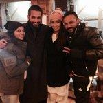#Haider & #Arshia post shoot local chai time #HaiderMemories http://t.co/eTVU7O2igs