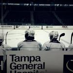 RT @BBurnsNHL: View from behind the bench #TBLightning #IsItOctoberYet http://t.co/Em5B7wm5UJ