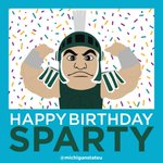 We hear its somebodys birthday today. #Happy25Sparty http://t.co/RT2QSOE5SO
