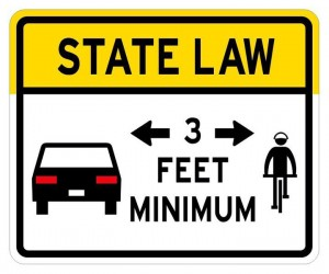 Giving 3 feet to bicyclists is law starting today. Join the conversation w/ #IGive3Ft & #GiveMe3 http://t.co/hBApFJyqpB