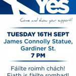 RT @Irish4ScotsIndy: James Connolly statue, Beresford Place, #Dublin Ireland this evening 7pm gathering to support #YesScotland #Indyref http://t.co/zaAiS9kwAX