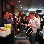 RT @Marsee: The lines are growing for @Souders and @Allspaw -- they're signing books at 6pm tonight. #velocityconf