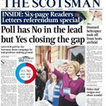 """RT @mik61scot: """"@NicolaSturgeon Momentum still very much with #Yes with just a day to go. Keep campaigning we can do this. #indyref http://t.co/YqF5716qeN"""""""