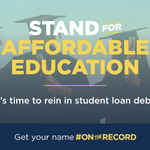 The burden of student loan debt is too great. If you agree, go #OnTheRecord: http://t.co/ZDvuYbidRu