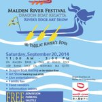 This Saturday: #Malden River #festival with #dragonboat races. Come cheer us on! #free #fun #Boston @universalhub http://t.co/cn2E5InVFN