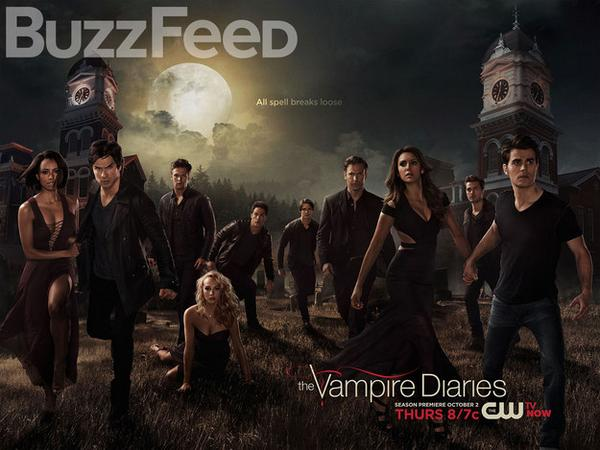 """Exclusive: """"The Vampire Diaries"""" Season 6 Poster Tears Damon and Elena Apart http://t.co/Kg07NfPV8p http://t.co/6o0MWWDDNn"""