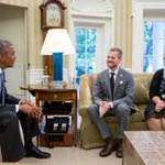 RT @NBCNightlyNews: PHOTO: President Obama meets with Ebola survivor Dr. Kent Brantly and his wife in the Oval Office (via @petesouza)