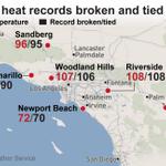 The Southern California #heatwave is breaking temperature records across the region http://t.co/FiBdypLZsP http://t.co/qMsJpJn3XB