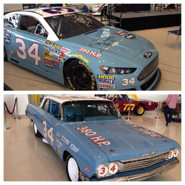 I think this #34 is going to look great at Martinsville next month. Proud to represent the @NASCARHall and Wendell!   http://t.co/G2EuUeAH83
