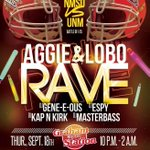 RT @ZainaAtyani: NMSU VS UNM rave 18+\21+ Advance tickets $5 and $10 at the door This Thursday 10pm-2am @ Grahms HMU for tix #BeatUNM http://t.co/f87PtWd1zM