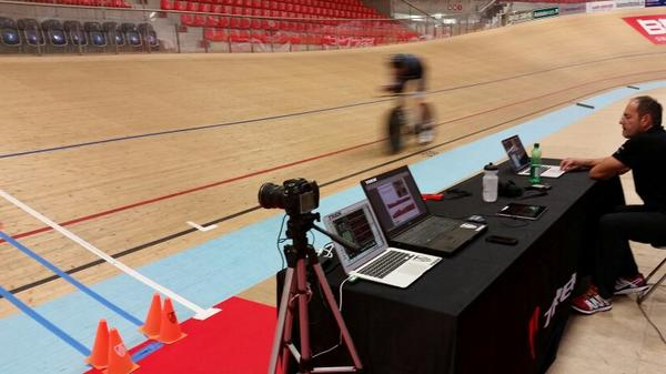 Last hard training for @thejensie before big event. Everything ready. Bring on the #HourRecord http://t.co/4JRsFKbE0d
