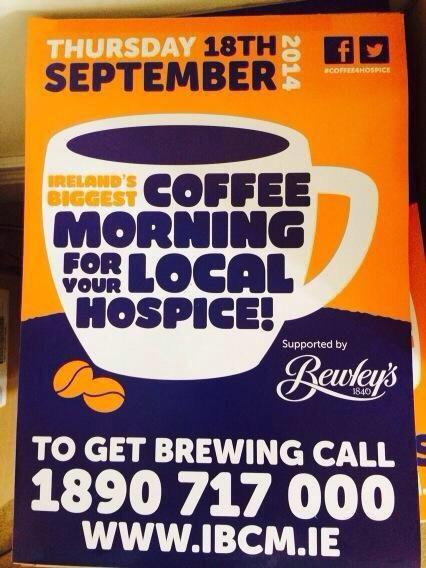 We are busy bees in @IrishHospice putting last touches with @BewleysIreland to #coffee4hospice plans Thurs. Join in! http://t.co/FIiAt7xYdR