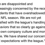 NFL beer sponsor, Anheuser-Busch, issues strong statement http://t.co/HybXHjymDr