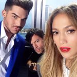 Serving face with @adamlambert and @HarryConnickJR. #theyreservingmorethanme #poutylips #idolseason14