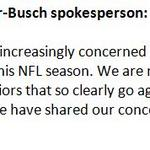 Anheuser-Busch releases statement critical of NFL's off-field issues.