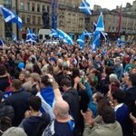 RT @voteYES: Incredible scenes on #GeorgeSquare as #VoteYes supporters take to the street to urge undecided voters to say #Yes RT http://t.co/H740gAkFHr