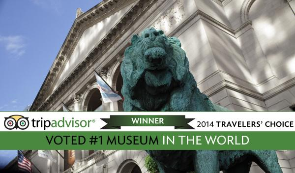 Wow! The Art Institute was voted #1 museum in the world on @TripAdvisor! Read more—http://t.co/SOHDw8fBXC http://t.co/bx2ucTTnOy
