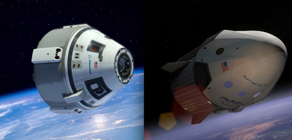 Boeing and SpaceX win contracts worth up to $6.8 billion to build commercial vehicles to take astronauts into space. http://t.co/9N9YqbZ81E
