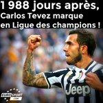 RT @EurosportCom_FR: Tevez n'avait plus marqué en #LDC depuis le 7 avril 2009 lorsqu'il évoluait à Man United ! http://t.co/CSiPv3HrFH http://t.co/k3uppVyJpE