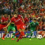 RT @LFC: PHOTO: Steven Gerrard converts his injury-time penalty to give #LFC a dramatic 2-1 win http://t.co/GrhYoivFlP