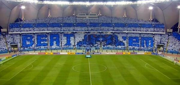 Another amazing tifo by Al Hilal's loyal fans ahead of their #ACL2014 clash with Al Ain. http://t.co/9oJiKk0ofs