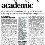 RT @AlisonC1988: Alex Salmond personally pressurised St Andrews Uni head to tone down Yes vote concerns. #indyref http://t.co/zhu8yNgeoK