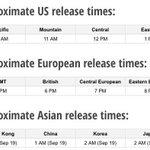 iOS8 Release Time. http://t.co/TzqVyEJrk6