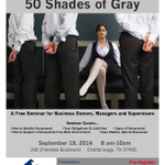 RT @LynnTalbott1: Free Chattanooga Seminar: Preventing Harassment in the Workplace-Defining 50 Shades of Gray http://t.co/E6d1F9fae1 #CHA #chattanooga