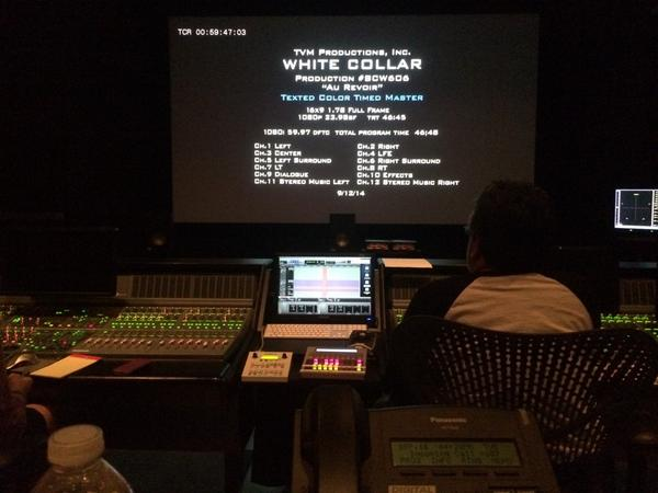 Mixing the last #WhiteCollar ever. http://t.co/Bxr7WCHHuY