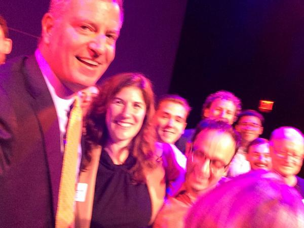 Mayor Bill de Blasio taking a selfie with my phone! #BigApps @MindMyBizApp http://t.co/qC8RmGoMI3