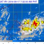 PAGASA: Low Pressure Area at 1,070km east of Visayas http://t.co/wzViKjtVZJ