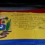 RT @EusebioCosta: Bandera de Venezuela que entregaremos de obsequio a @SairamRivas con la firma de sus compañeros de lucha y familiares http://t.co/w3lOg46NwL