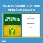 Para Aécio, programa de governo de #MarinaCensura é genérico ao dele #MaisAmor13 http://t.co/KwxnCxGG8E