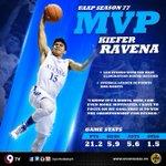 ALL HAIL THE KING! @kieferravena to be named UAAP Season 77 MVP | Read: http://t.co/7MfNx6Nv65 #UAAP77 http://t.co/lgbvtN61qb