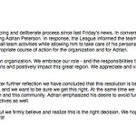RT @Rachel__Nichols: You wont be seeing Adrian Peterson on the field this Sunday; Vikings have reversed course. Here is the statement: http://t.co/HuXbfjzwJT
