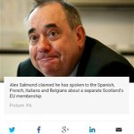RT @AgentP22: Salmond caught lying again. No EU discussions have taken place with other members. http://t.co/twX9GcdaCn http://t.co/D0Wln233OG
