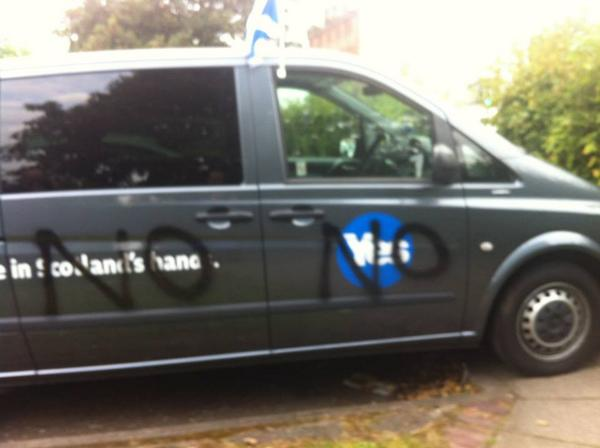More vandalism by the Naysayers.   Don't be intimidated #VoteYes http://t.co/mMWBkSGZcE