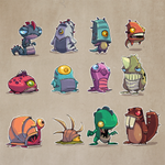 How about some monsters designs for your hump day?! #art #Gamedev http://t.co/7W6ATgJI1c
