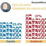 Tasa de paro femenino en #Andalucia con @_susanadiaz #susanaNOcumple #DebateAND http://t.co/F07d6NUme7