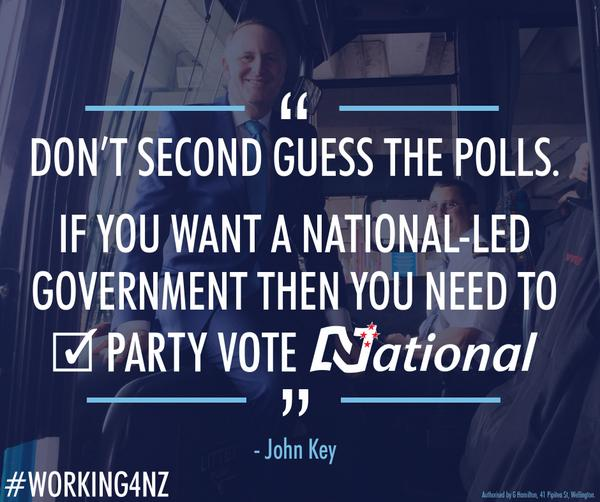 Thanks for tuning in. Only your party vote for National will keep the team that's #Working4NZ. #Vote2014NZ http://t.co/SaekzXS410